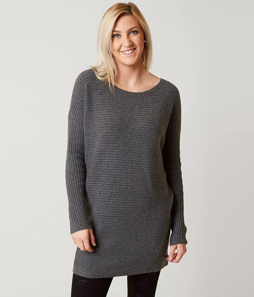 Bke Tunic Sweater Womens Sweaters In Grey Buckle