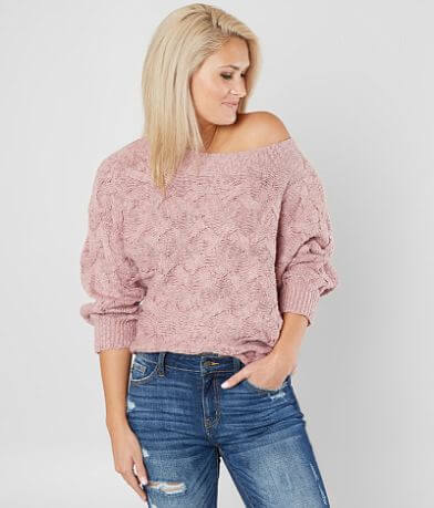 red by BKE Off The Shoulder Sweater