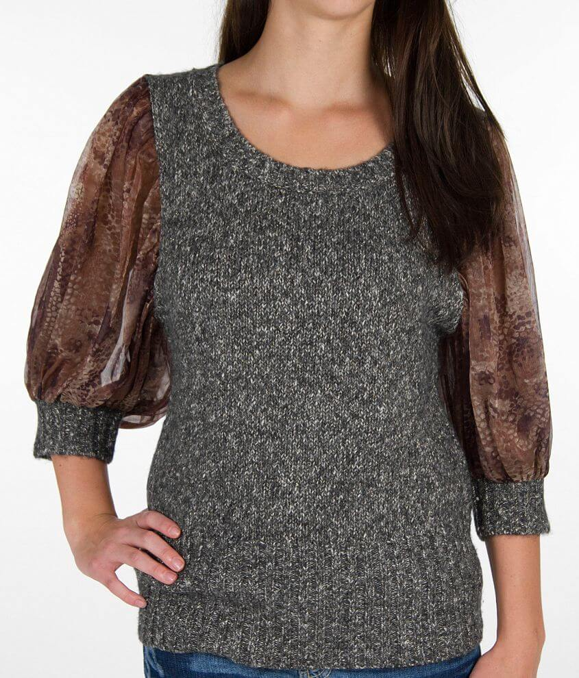 BKE Boutique Marled Sweater front view