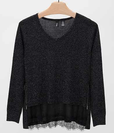 BKE Boutique Metallic Sweater