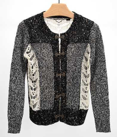 BKE Boutique Metallic Cardigan Sweater