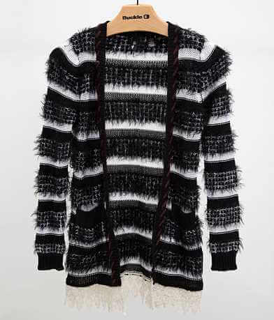 BKE Boutique Striped Cardigan Sweater