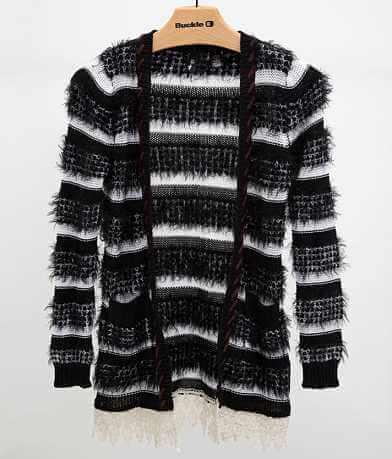 BKE Boutique Striped Cardigan Sweater