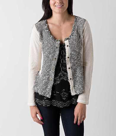 BKE Boutique Metallic Cardigan