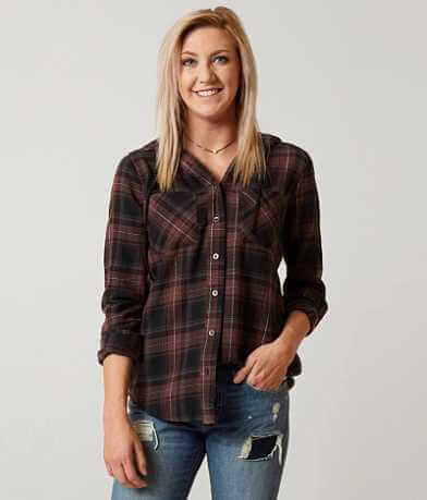 BKE Hooded Flannel Shirt