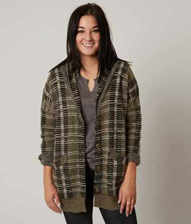 Gilded Intent Plaid Cardigan Sweater