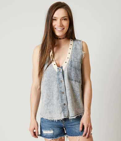 Gilded Intent Chambray Vest