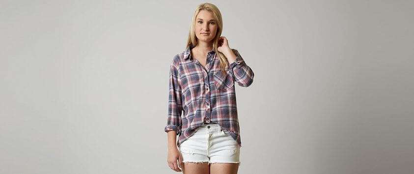 Gilded Intent Plaid Shirt front view