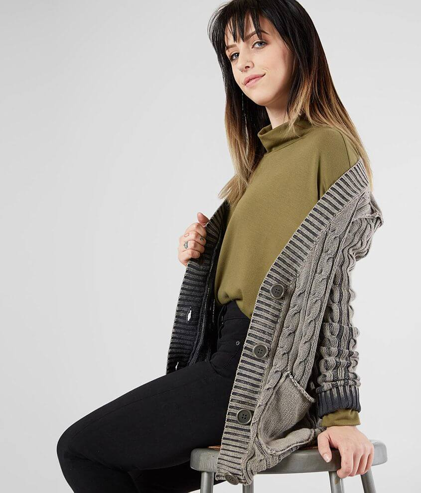 0cfa8eded8 Gilded Intent Washed Grandpa Cardigan Sweater - Women s Sweaters in ...