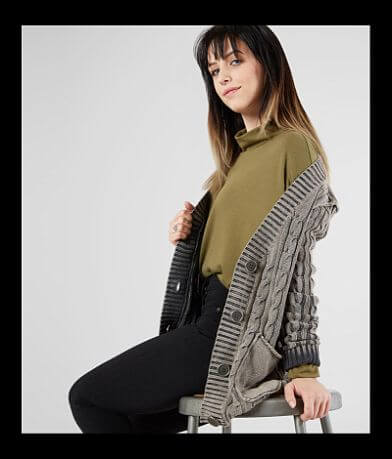 Gilded Intent Washed Grandpa Cardigan Sweater