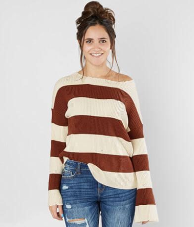 Gilded Intent Striped Sweater