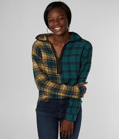 Gilded Intent Mixed Plaid Shirt