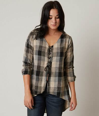 Gilded Intent Plaid Top