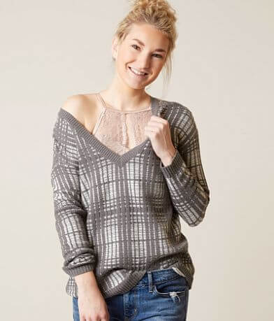 Gilded Intent Plaid Sweater
