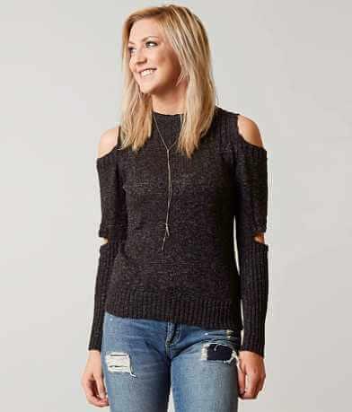 Gilded Intent Cold Shoulder Sweater