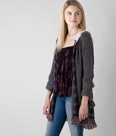 Gimmicks Open Weave Cardigan Sweater