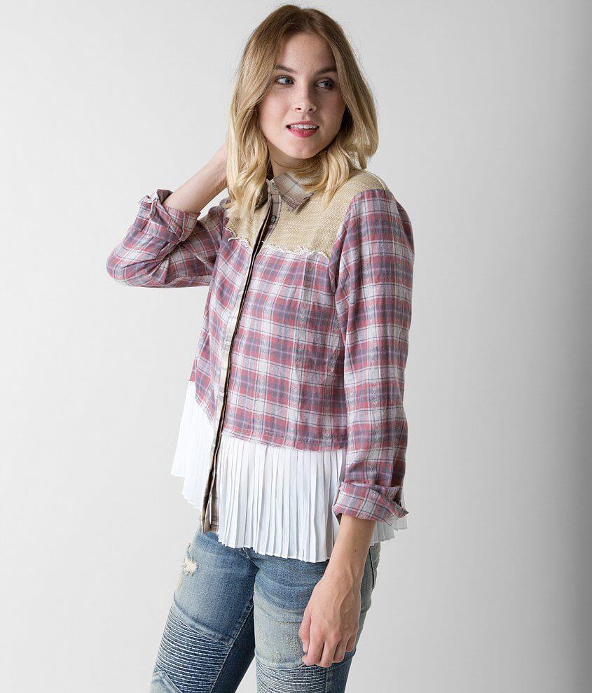0864e6cb8e Gimmicks Plaid Shirt - Women s Shirts Blouses in Deco Rose