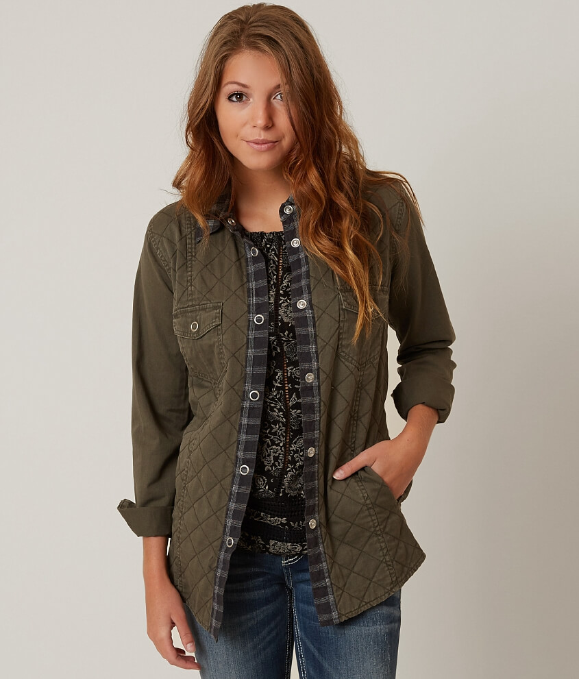 Gimmicks Quilted Jacket Womens Coatsjackets In Olive Buckle
