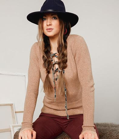 Gimmicks Lace-Up Sweater