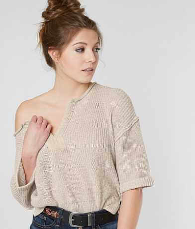 Gimmicks Split Neck Sweater