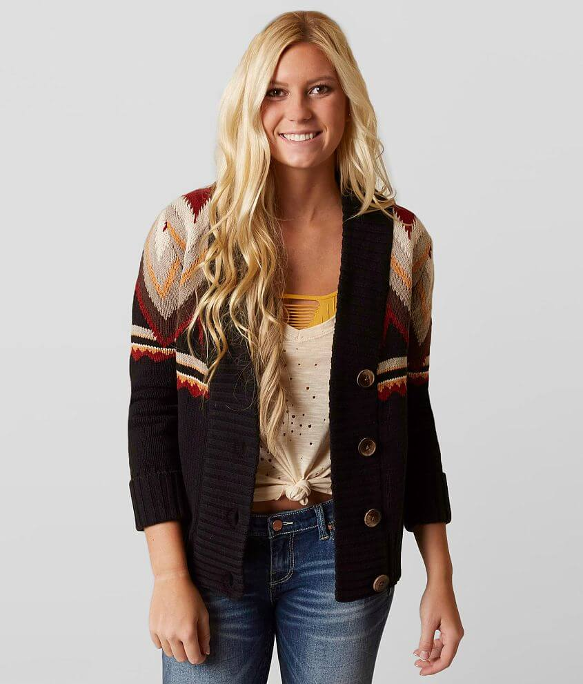 Style GMKDN2507/Sku 602906 Button front ribbed trim cardigan Body length 25\\\