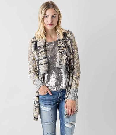 Gimmicks Fringe Cardigan Sweater