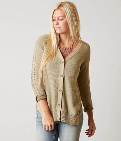 Gimmicks Pointelle Cardigan Sweater