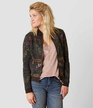 Gimmicks Printed Cardigan Sweater