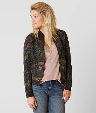 Gimmicks Printed Cardigan Sweater