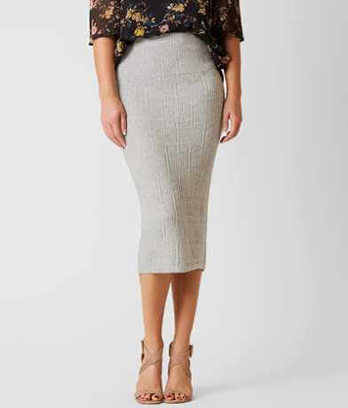 Gimmicks Patterned Sweater Skirt