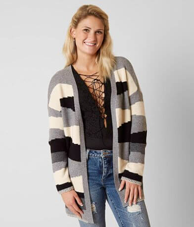 Gimmicks Color Block Cardigan Sweater