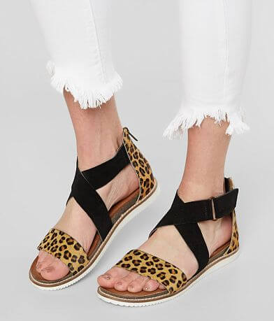 Diba True Leopard Leather Sandal