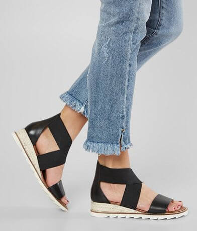 Diba True Qwi Ver Leather Wedge Sandal