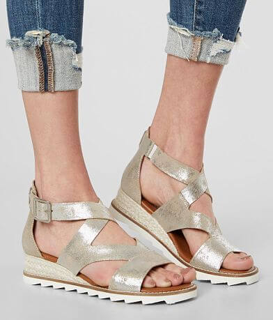 Diba True Qu Aint Leather Wedge Sandal