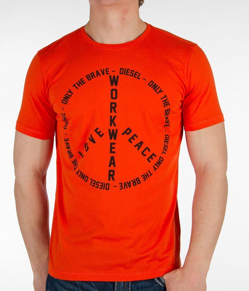 de547d16 Diesel Fritz T-Shirt - Men's T-Shirts in Orange | Buckle