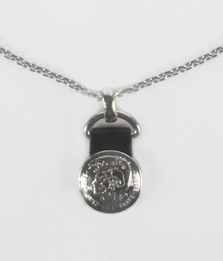 Diesel Basic Logo Necklace front view