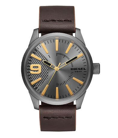 Diesel Rasp 3 Leather Watch