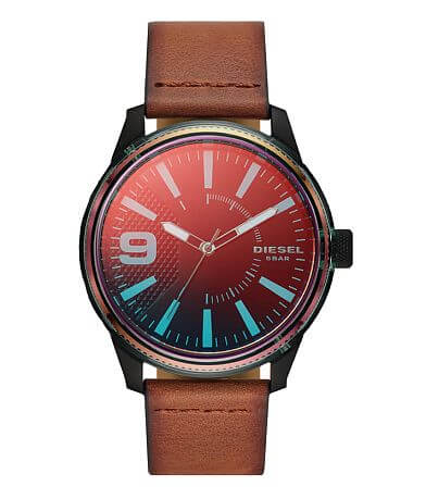 Diesel Rasp 3 Leather Watch