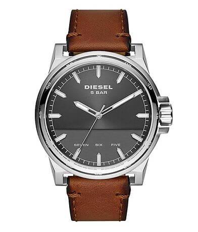 Diesel D-48 Leather Watch