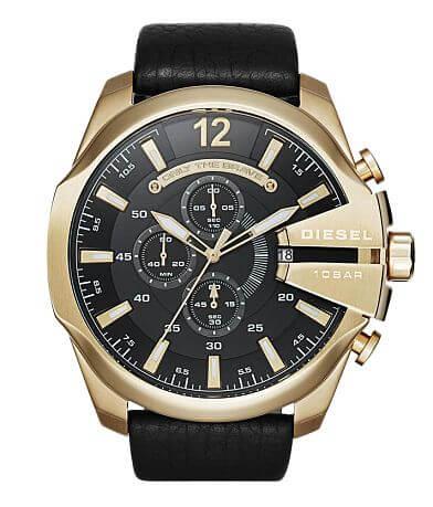 Diesel Mega Chief Leather Watch