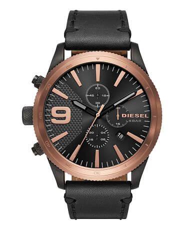 Diesel Rasp Chrono Leather Watch