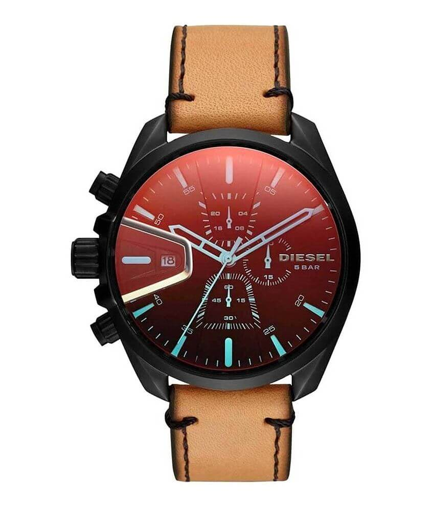 Diesel MS9 Leather Watch front view