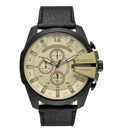 Diesel Mega Chief Leather Watch