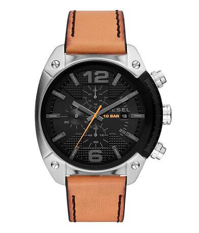 Diesel Overflow Leather Watch
