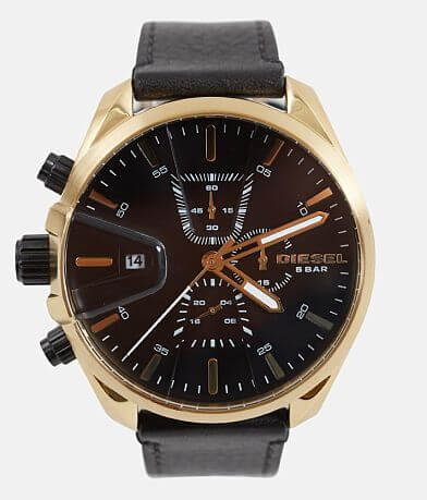Diesel MS9 Chronograph Leather Watch