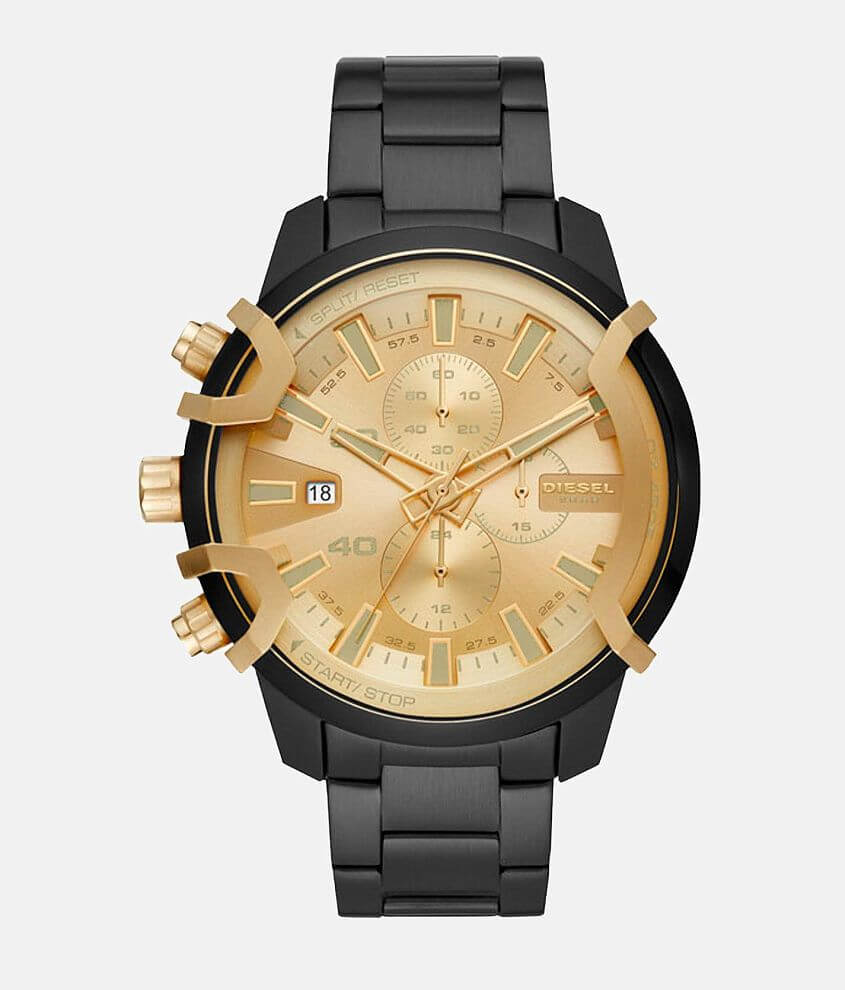 Diesel Gold Dial Watch front view
