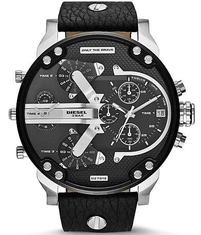 Diesel Mr. Daddy Leather Watch