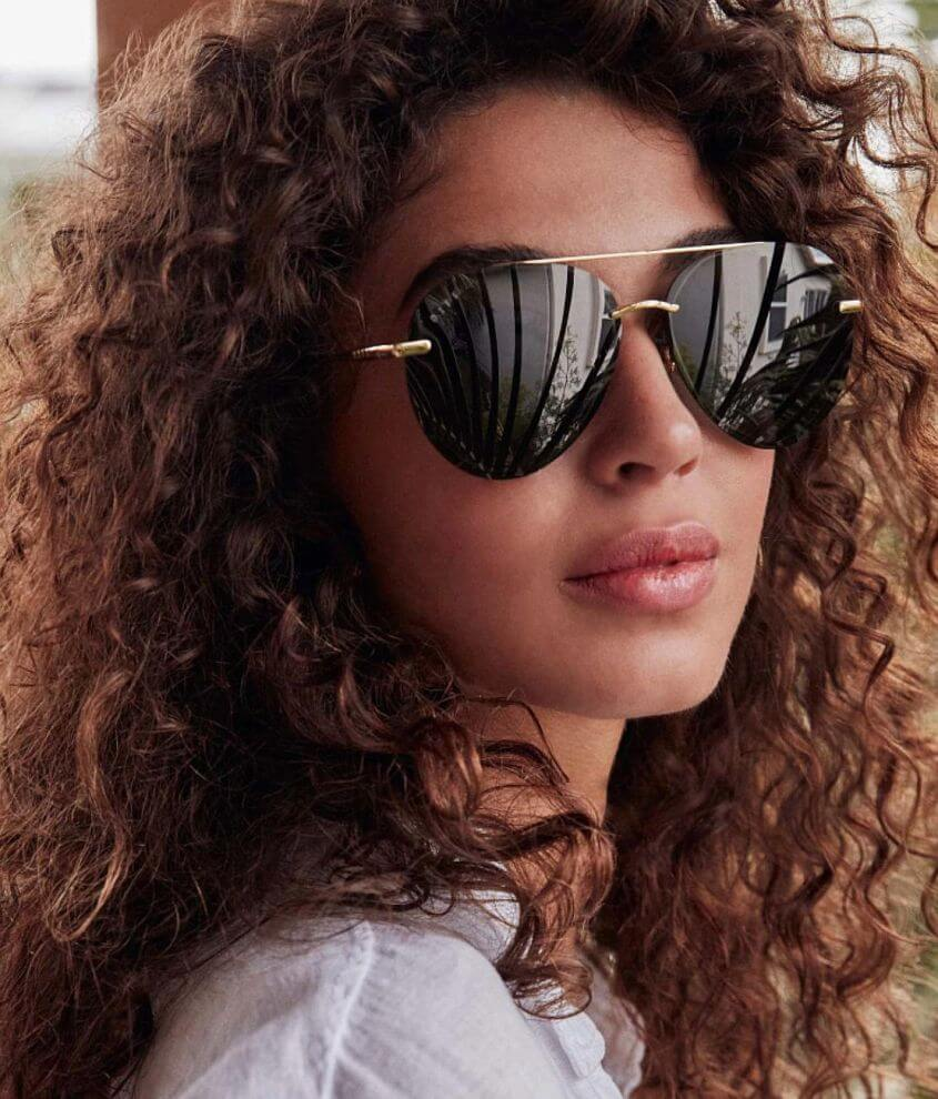 DIFF Eyewear Lenox Polarized Aviator Sunglasses front view