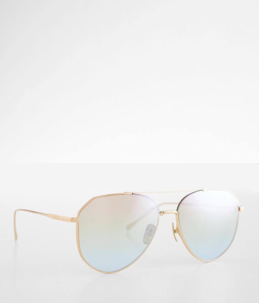 DIFF Eyewear Dash Aviator Sunglasses front view
