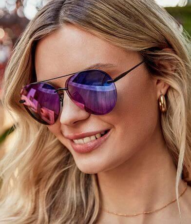 DIFF Eyewear Lenox Aviator Sunglasses